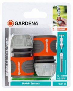 Gardena 2 raccords d'arrosage rapides 13 mm (1/2) et 15 mm (5/8) raccords pour le début du tuyau, raccordement rapide et facile (18281-20) de la marque Gardena image 0 produit
