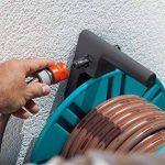 Gardena Dévidoir mural Classic 60 avec guide-tuyau: pour montage mural simple, avec raccord anti-goutte, raccord coudé, grande capacité, encombrement réduit (2650-20) de la marque Gardena image 3 produit