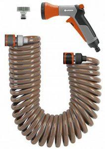 Gardena Flexible d'arrosage 10 tuyau d'arrosage spiralé pour petites surfaces, force de rappel, diamètre 9 mm, avec éléments du système lance (4647-20) de la marque Gardena image 0 produit