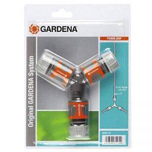 """Gardena Nécessaire de dérivation en Y pour arrosage 13 mm (1/2"""")/15 mm (5/8"""") raccord de dérivation pour une distribution simple (18287-20) de la marque Gardena image 0 produit"""