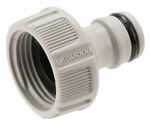 Gardena Nez de robinet 26.5 mm (G 3/4) raccord pour robinets avec filetage, raccordement étanche, manipulation facile, emballé (18201-20) de la marque Gardena image 0 produit