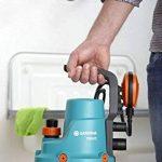 GARDENA Pompe d'évacuation pour eaux claires 7000/C Classic : pompe pour eaux claires, débit de 7000 l/h, silencieuse et sans entretien, fonction automatique, avec interrupteur à flotteur(1661-20) de la marque Gardena image 3 produit