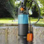 GARDENA Pompe immergée pour arrosage 5500/3 Classic : pompe immergée, débit de 5500 l/h, fonctionne silencieusement et sans entretien, protection contre la marche à sec via un flotteur (1461-20) de la marque Gardena image 1 produit