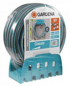 GARDENA Porte-tuyau mural avec tuyau : kit avec tuyau de 20 m, lance et support, flexible résistant à la pression et de forme stable, peut être combiné avec tous les appareils GARDENA (18005-20) de la marque Gardena image 0 produit