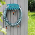 GARDENA Porte-tuyau mural avec tuyau : kit avec tuyau de 20 m, lance et support, flexible résistant à la pression et de forme stable, peut être combiné avec tous les appareils GARDENA (18005-20) de la marque Gardena image 1 produit