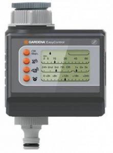 GARDENA Programmateur d'arrosage EasyControl : commande automatique de l'arrosage, arrosage quotidien ou tous les 2/3/7 jours, jusqu'à trois arrosages par jour, fonctionne sur pile (1881-20) de la marque Gardena image 0 produit
