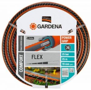 """Gardena Tuyau Comfort FLEX 19 mm (3/4""""), 25 m: tuyau d'arrosage flexible et indéformable avec profilé Power-Grip, résistance à l'éclatement de 25 bars, sans pièces du système (18053-20) de la marque Gardena image 0 produit"""