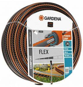 """Gardena Tuyau Comfort FLEX 19 mm (3/4""""), 50 m: tuyau d'arrosage flexible et indéformable avec profilé Power-Grip, résistance à l'éclatement de 25 bars, sans pièces du système (18055-20) de la marque Gardena image 0 produit"""