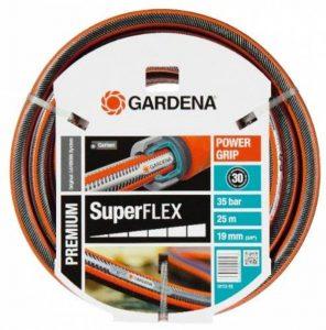 """Gardena Tuyau d'arrosage Premium SuperFLEX 19 mm (3/4""""), 25 m: tuyau à profil Power-Grip, résistance à l'éclatement de 35 bars (18113-20) de la marque Gardena image 0 produit"""