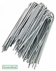 GardenMate® 100 piquets de fixation en acier GALVANISE 150 mm, 25 mm large, Ø 2,9mm de la marque GardenMate® image 0 produit