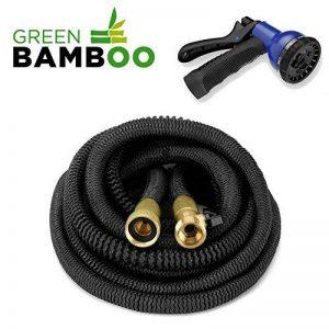 ⭐ [Green Bamboo®] - Tuyau d'Arrosage Extensible & Retractable / Solidité Renforcée / 15m (50ft) + Connecteurs en laiton à VIS + Pistolet 8 fonctions de la marque Green Bamboo image 0 produit