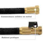⭐ [Green Bamboo®] - Tuyau d'Arrosage Extensible & Retractable / Solidité Renforcée / 15m (50ft) + Connecteurs en laiton à VIS + Pistolet 8 fonctions de la marque Green Bamboo image 1 produit