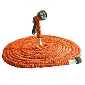 Greendream Tuyau d'arrosage Extensible Jusqu'à 3 Fois Flexible Rétractable Jardin Pipe avec 7 Fonction Pistolet –50m- Orange de la marque Greendream image 0 produit