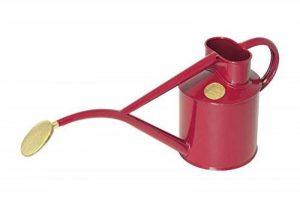 Haws Intérieur en métal 2-pint/1-liter Arrosoir avec rose et boîte cadeau bordeaux de la marque Bosmere image 0 produit