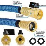 HBlife Tuyau d'arrosage Extensible Noir Extensible Rétractable avec 8 Fonction Pistolet (50ft, bleu) de la marque HBlife image 1 produit