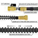 HBlife Tuyau d'arrosage Extensible Noir Extensible Rétractable avec 8 Fonction Pistolet (50ft, noir) de la marque HBlife image 2 produit