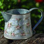 Home Collection Meubles, décoration - arrosoir pour fleurs et plantes - motif: floral - style: shabby chic, rustique - couleur: gris - matière: zinc - 10 cm de la marque Home Collection image 1 produit