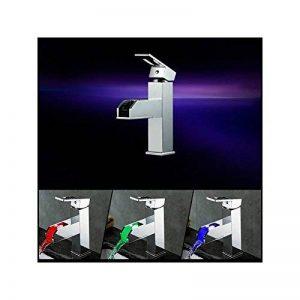 HomeLava Robinet de bassin lavabo en laiton Robinet de cuneisi LED cascade pour Evier style antique mitigeur moderne simple pour salle de bains de la marque HomeLava image 0 produit