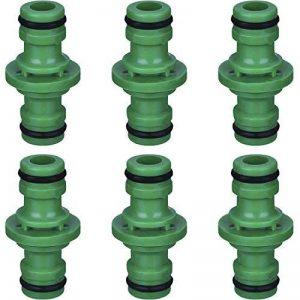 Hotop 6 Pièces Double Connecteur de Tuyaux Mâles Raccords de Tuyaux pour Rejoignez le Tube de Tuyaux de Jardin, Vert de la marque Hotop image 0 produit
