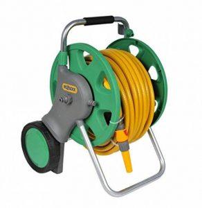 Hozelock 2443 Dévidoir sur roue avec 30m de tuyau diamètre 15 mm 48 x 58 x 47 cm Vert/Jaune de la marque Hozelock image 0 produit