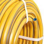 Hozelock Tuyau d'arrosage Tricoflex Ultraflex Tuyau Jaune Tricoté High Twist résistant system avec 1/2pouces (= 12,5mm) ou 3/4pouces (= Ø 19mm) 50m 1/2 Zoll Durchmesser de la marque Hozelock image 1 produit