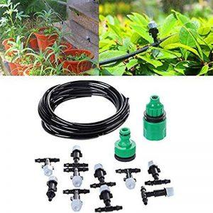 HUACAM Micro Drip Irrigation Kit, 10 m automatique Micro goutte à goutte Kit bricolage système d'irrigation arrosage automatique Arroseur automatique pour jardin, paysage, lit de fleurs, plantes de patio de la marque HUACAM image 0 produit