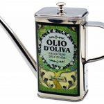 Huilier en acier inoxydable - arrosoir/pour huile d'olive - motif olivier/italien - 500 ml de la marque Argon Tableware image 1 produit