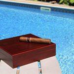 Humidificateur de cigares finition cerise en cèdre avec fermeture magnétique intégrée de la marque case Elegance image 3 produit