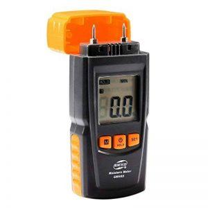 Humidimetre Bois Mesure d'Appareil d'Humidité Détecteur humidite LCD Digtal Testeur d'Humidité avec 2 Broches 2 Pile 1.5V 4 Groupe en Bois Galibré pour sélectionner de la marque TOTOBAY image 0 produit