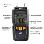 Humidimetre Bois Mesure d'Appareil d'Humidité Détecteur humidite LCD Digtal Testeur d'Humidité avec 2 Broches 2 Pile 1.5V 4 Groupe en Bois Galibré pour sélectionner de la marque TOTOBAY image 2 produit