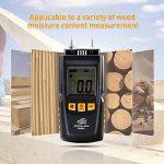 Humidimetre Bois Mesure d'Appareil d'Humidité Détecteur humidite LCD Digtal Testeur d'Humidité avec 2 Broches 2 Pile 1.5V 4 Groupe en Bois Galibré pour sélectionner de la marque TOTOBAY image 3 produit