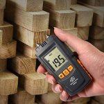 Humidimetre Bois Mesure d'Appareil d'Humidité Détecteur humidite LCD Digtal Testeur d'Humidité avec 2 Broches 2 Pile 1.5V 4 Groupe en Bois Galibré pour sélectionner de la marque TOTOBAY image 4 produit