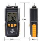 Humidimetre Bois Mesure d'Appareil d'Humidité Détecteur humidite LCD Digtal Testeur d'Humidité avec 2 Broches 2 Pile 1.5V 4 Groupe en Bois Galibré pour sélectionner de la marque TOTOBAY image 1 produit