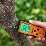 Humidimètre du Bois Tacklife WM01 Classique Détecteur d'humidité Testeur d'humidité pour Mesurer le Pourcentage d'eau dans le Bois Gamme 2 ~ 70% RH avec Écran LCD Rétroéclairé et 3 Piles 1.5V Founies de la marque Tacklife image 4 produit