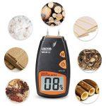 Humidimètre numérique de bois Dr.meter testeur d'humidité du bois portable à 2 broches, écran LCD numérique HD avec 2 broches de rechange et une pile 9V(les deux inclus)Plage 5%-40%,précision: +/- 1% de la marque Dr.meter image 5 produit