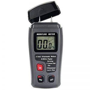 Humidimètre Bois Numérique Testeur d'Humidité Détecteur 2-Pins Mesure Appareil d'Humidité avec LCD Digital, Capteur de Gamme 0%-99.9%, 1 Pile 9V Inclus, 4 Groupes en Bois Calibré (style 2) de la marque TOTOBAY image 0 produit