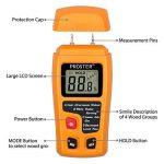 Humidimètre Bois RZMT-10 LCD Mesureur Numérique d'Humidité Instrument de Test d'Humidité de Bois Testeur Détecteur Outil pour Mesurer le Teneur d'Humidité pour Mur Papier Carton Bois de Chauffage Plâtre de la marque Proster image 2 produit
