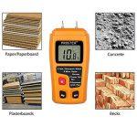 Humidimètre Bois RZMT-10 LCD Mesureur Numérique d'Humidité Instrument de Test d'Humidité de Bois Testeur Détecteur Outil pour Mesurer le Teneur d'Humidité pour Mur Papier Carton Bois de Chauffage Plâtre de la marque Proster image 3 produit