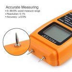 Humidimètre Bois RZMT-10 LCD Mesureur Numérique d'Humidité Instrument de Test d'Humidité de Bois Testeur Détecteur Outil pour Mesurer le Teneur d'Humidité pour Mur Papier Carton Bois de Chauffage Plâtre de la marque Proster image 1 produit