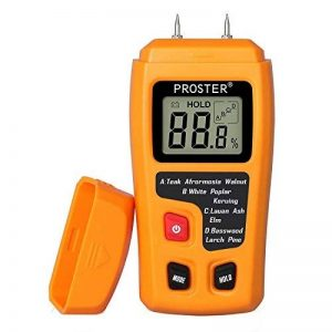 Humidimètre Bois RZMT-10 LCD Mesureur Numérique d'Humidité Instrument de Test d'Humidité de Bois Testeur Détecteur Outil pour Mesurer le Teneur d'Humidité pour Mur Papier Carton Bois de Chauffage Plâtre de la marque Proster image 0 produit