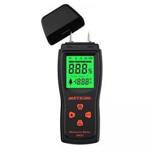 Humidimètre du Bois, Meterk Détecteur d'humidité pour Mesurer le Pourcentage d'eau dans le Bois Gamme 2 ~ 70% RH de la marque image 0 produit