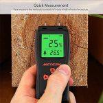 Humidimètre du Bois, Meterk Détecteur d'humidité pour Mesurer le Pourcentage d'eau dans le Bois Gamme 2 ~ 70% RH de la marque image 3 produit