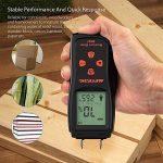 Humidimètre du Bois, Meterk Détecteur d'humidité pour Mesurer le Pourcentage d'eau dans le Bois Gamme 2 ~ 70% RH de la marque image 4 produit