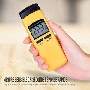 Humidimètre Numerique Précis à 4 Piques Sensible - Détecteur d'humidité Bois Large Écran LCD - Testeur Humidité dans Le Bois - Humidimetre Mesurer Matériaux en Bois Bûche Carton Bambou Parquet etc. de la marque FstDgte image 0 produit