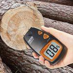 Humidimètre numérique de bois Dr.meter testeur d'humidité du bois portable à 2 broches, écran LCD numérique HD avec 2 broches de rechange et une pile 9V(les deux inclus)Plage 5%-40%,précision: +/- 1% de la marque Dr.meter image 3 produit