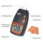 Humidimètre numérique de bois Dr.meter testeur d'humidité du bois portable à 2 broches, écran LCD numérique HD avec 2 broches de rechange et une pile 9V(les deux inclus)Plage 5%-40%,précision: +/- 1% de la marque Dr.meter image 4 produit