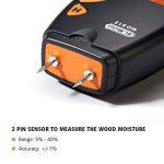 Humidimètre numérique de bois Dr.meter testeur d'humidité du bois portable à 2 broches, écran LCD numérique HD avec 2 broches de rechange et une pile 9V(les deux inclus)Plage 5%-40%,précision: +/- 1% de la marque Dr.meter image 1 produit