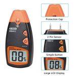 Humidimètre numérique de bois Dr.meter testeur d'humidité du bois portable à 2 broches, écran LCD numérique HD avec 2 broches de rechange et une pile 9V(les deux inclus)Plage 5%-40%,précision: +/- 1% de la marque Dr.meter image 2 produit