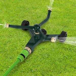 Jago - Arroseur jardin pelouse rotatif avec 3 bras - sur roulettes - portée max. 12 m de la marque Jago image 0 produit
