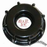 Jardiboutique Robinet laiton pour cuve IBC avec raccord écrou de (S60X6) de la marque Jardiboutique image 3 produit